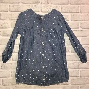 Carters Girls Size 6x Jean and polka dot top